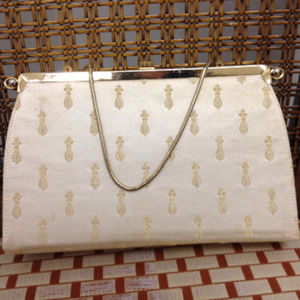 1950s Vintage Bags By Edwards reversible clutch pu